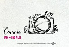 camera clipart - with little hearts Product Image 1