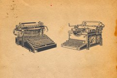 22-hand drawn typewriters Product Image 7