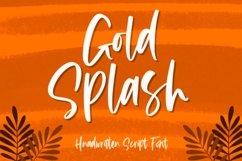 Gold Splash - Handwritten Script Product Image 1