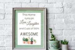 This Home runs on Love, Laughter and...SVG, PNG, PDF Print Product Image 4