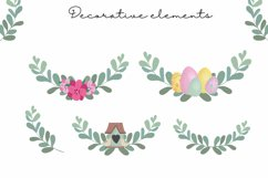 Easter clipart, easter bunny PNG, easter eggs, easter PNG Product Image 6