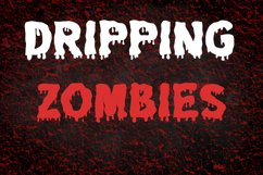 Dripping Zombie Halloween Font Product Image 1