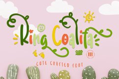 King Coalifa - A Cute Crafted Font Product Image 1