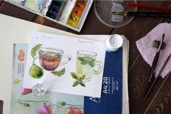 Watercolor tea-2 vector set Product Image 2