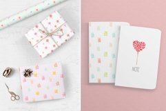 Watercolor candy. Valentine's Day. Patterns and Cliparts Product Image 4