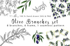 Olive branches set Product Image 1