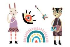 Scandinavian style clipart. Norwegian folk art clip art. Product Image 4
