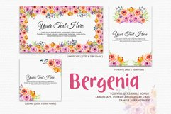 Bergenia - Digital Watercolor Floral Flower Style Clipart Product Image 4