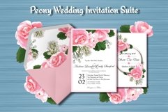 Peony Floral Wedding Invitation Suite Product Image 2