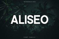 Aliseo Font Family - Sans Serif Product Image 1
