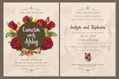 Floral Wedding Invitation Card Product Image 2