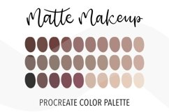 Matte makeup color palette for Procreate. 30 Swatches Product Image 1