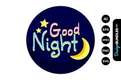 Good Night Clipart Product Image 1