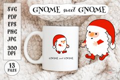 Christmas SVG Cute Gnome Sticker. Funny Christmas Quote Product Image 1