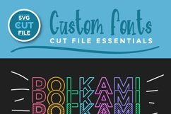 Polkami - a polka dot mirror font with stacked letters OTF Product Image 2