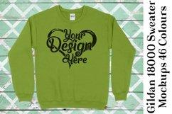 Gildan Sweatshirt Mockup 18000 Mock Up Black White Grey 939 Product Image 5