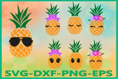 Pineapple Face Svg, Pineapples Svg, Pineapple Svg, Summer Product Image 1
