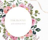 Blush pink floral Frame Frames Borders PNG Rose Gold Clipart Product Image 3