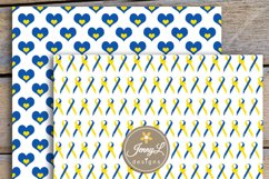 Down Syndrome Awareness Digital Papers and Cipart SET Product Image 4
