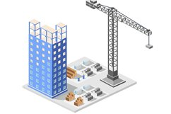 Big city skyscrapers under construction Product Image 1
