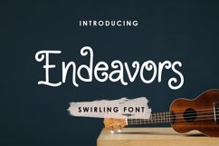 Endeavors - Swirling Font Product Image 1