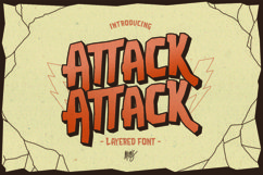 Web Font Attack Attack Typeface Product Image 1