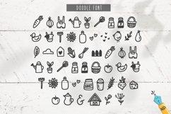 Farm To Table - A Farmhouse Skinny Sans & Doodle Font Product Image 6