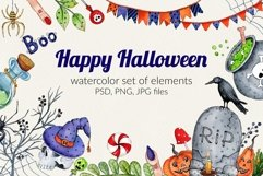 Watercolor set for Halloween Product Image 1