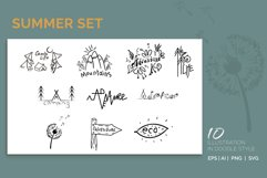 Summer set. 10 illustration in doodle style Product Image 1