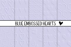 Blue Embossed Hearts Product Image 1
