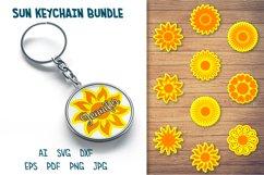 Sun Keychain SVG, Circle Keychain SVG, Round Keychain Bundle Product Image 1