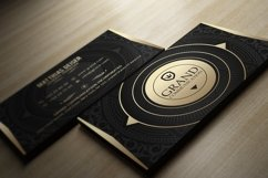 Gold And Black Business Card Product Image 2