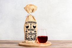 Wine Bag SVG Bundle, Christmas Wine SVG files for Cricut Product Image 4