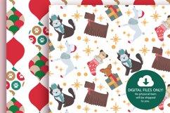 Christmas Dog Digital Papers Product Image 6