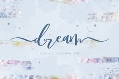 Dream Bounce Calligraphy Font Product Image 1