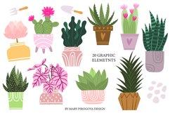 Potted house plants clip art set for your unique design Product Image 2