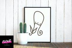 Flores mono - beautiful monogram floral font Product Image 6
