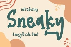 Web Font Sneaky - Fancy & Cute Font Product Image 1