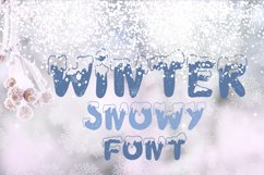 Handdrawn snowy display font Product Image 6