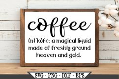Coffee Definition SVG Product Image 2