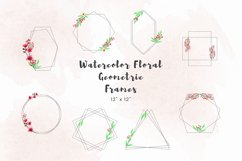 Watercolor floral geometric frames Product Image 1