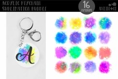 Acrylic Keychain Tye-dye Sublimation Bundle Product Image 1