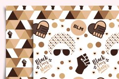 Black Lives Matter Digital Paper Seamless Product Image 6