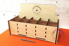 Wine bottles display box. Gift box. Glowforge ready vectors Product Image 1