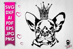 Cute Dog Portrait silhouette SVG cut file Product Image 1