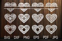 Heart SVG, Zentangle Heart SVG, Mandala Heart, Heart Frames Product Image 1