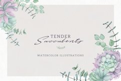 Watercolor Set Tender Succulents Product Image 1