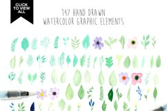173 summer watercolor flowers Product Image 2