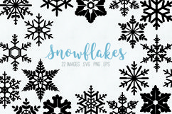 Snowflakes clipart SVG eps png Product Image 1