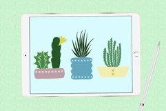 Succulents and pots stamp brushes Product Image 4